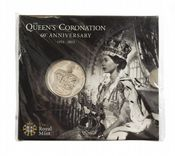 2013 Queens Coronation £5 Royal Mint Brilliant Uncirculated pack
